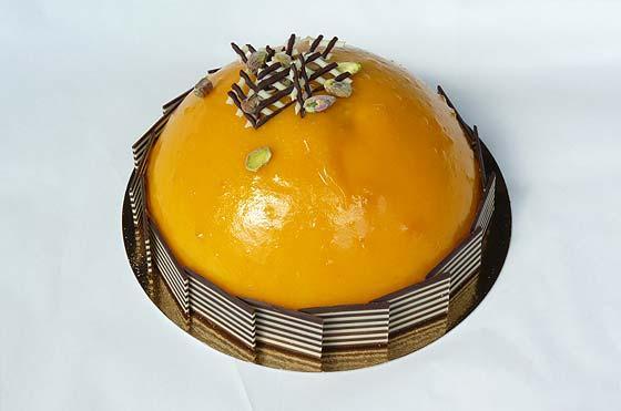 bombe mango tropical ijstaart
