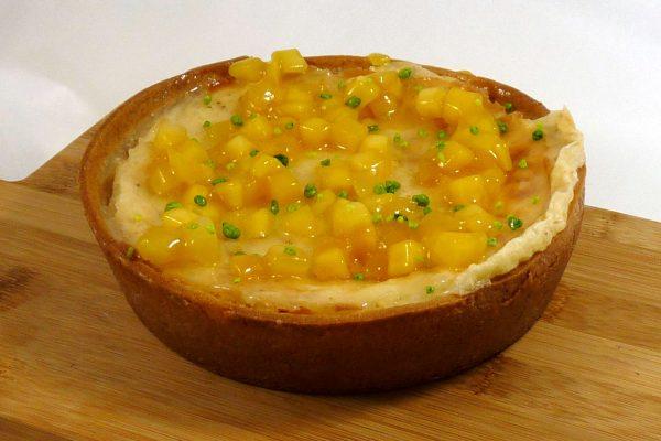2019-07 Gebakken taartje rijst met mango en oosterse kruiden