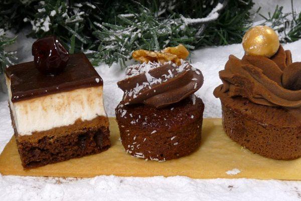 Trio chocolat op plankje