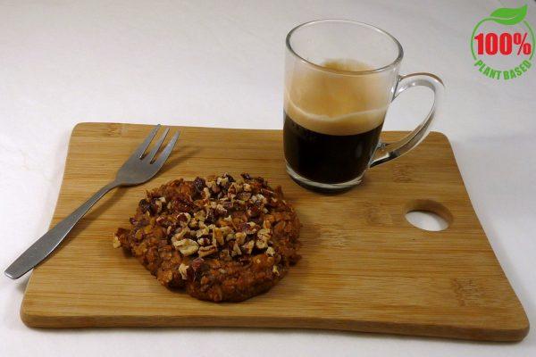 oatmeal koek met logo